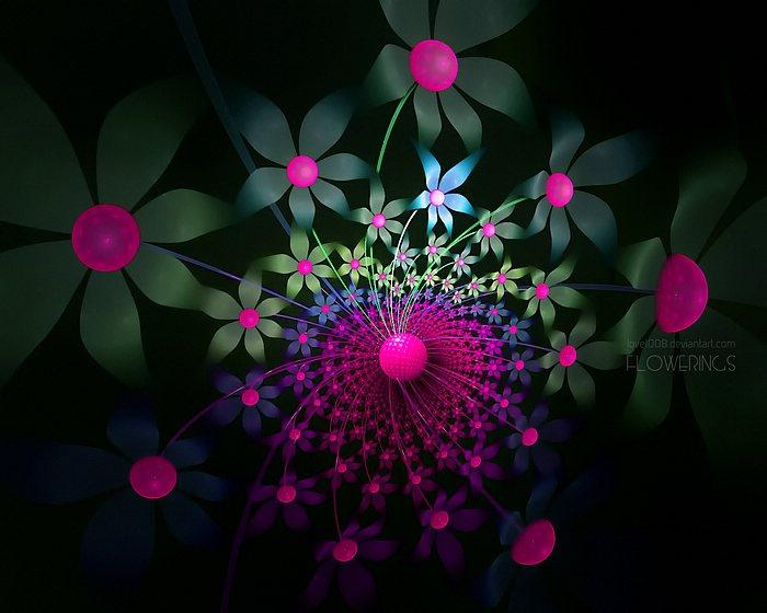 Fractal Flowers - Abstract Floral Fractal Art Wallpapers 15 - Wallcoo.net