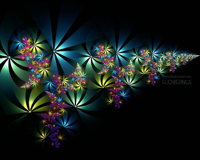 Fractal Flowers - Abstract Floral Fractal Art Wallpapers 21 - Wallcoo.net