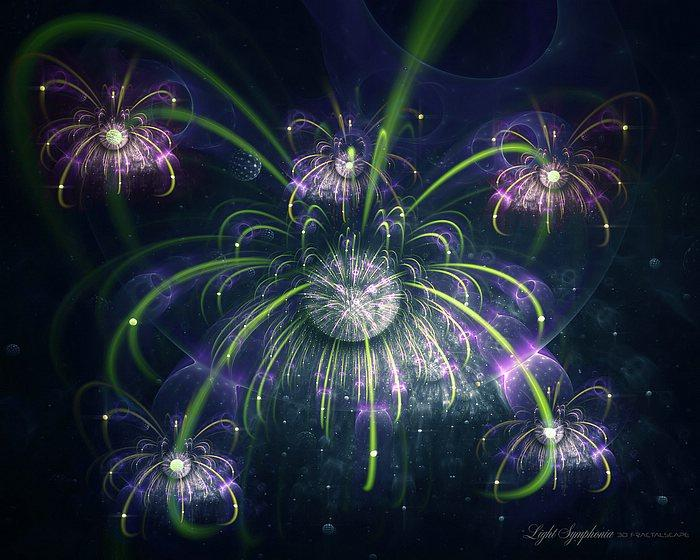 Light Symphonia - Artistic Fractal Art Wallpapers 25 - Wallcoo.net