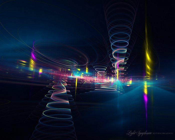 Light of Music - Beautiful Fractal Art Wallpapers 27 - Wallcoo.net