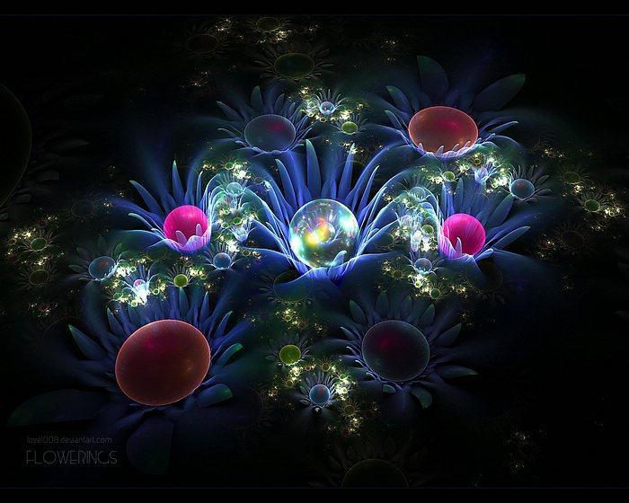 Fractal Flowers - Amazingly Stunning Floral Fractal Art Wallpapers 35 - Wallcoo.net