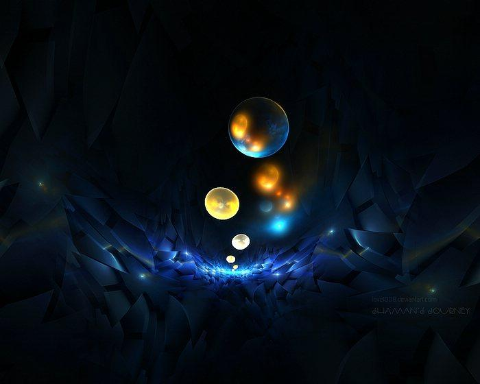 Fractal Shaman's Journey - Beautiful Abstrac Fractal Art Wallpapers 48 - Wallcoo.net