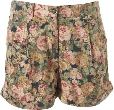 Floral Cord Shorts - Polyvore