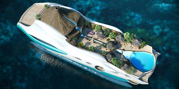 Can't Decide Between a Private Island or a Mega-Yacht? Get Both in One : Discovery Channel