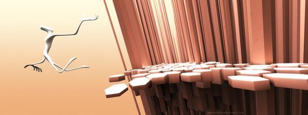 3D view,edge 3d view edge world digital art 3200x1200 wallpaper – 3D Wallpapers – Free Desktop Wallpapers