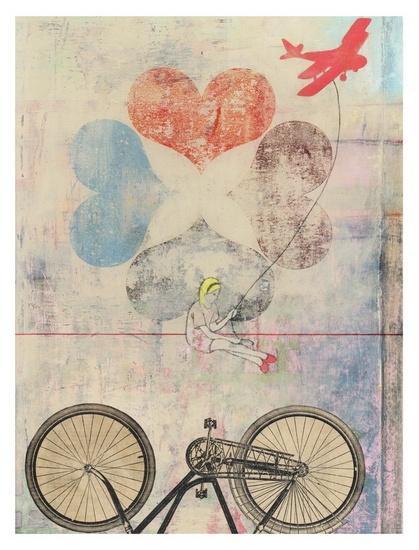 la bicyclette <3 / Navigator print by Jennifer Davis
