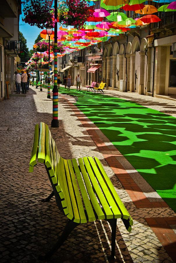 Hundreds of Floating Umbrellas Above a Street in Agueda, Portugal | Bored Panda