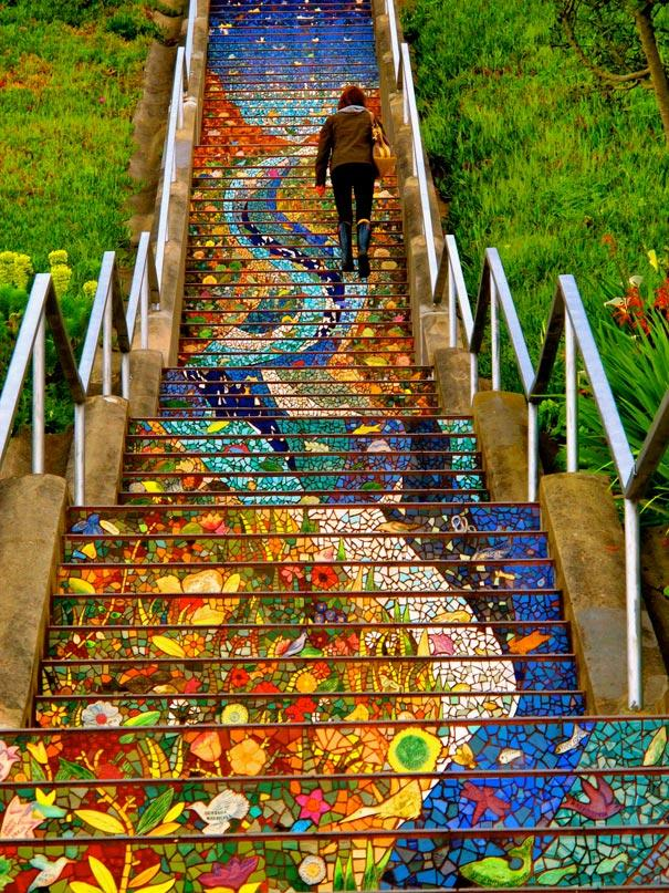 The 16th Avenue Tiled Steps Project | Bored Panda