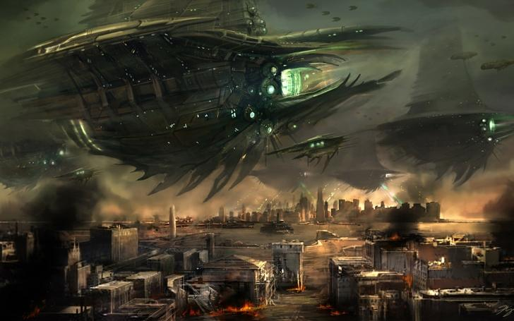 video games cityscapes postapocalyptic futuristic spaceships vehicles resistance burning skies High Quality Wallpapers,High Definition Wallpapers