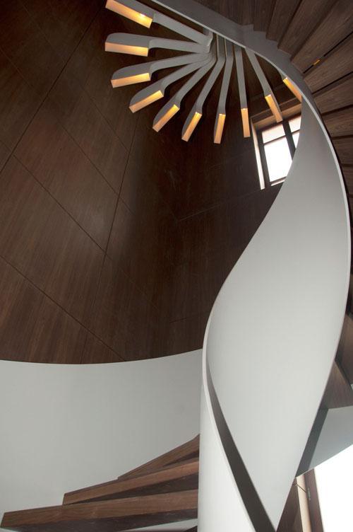 Spiral Staircase Lighting by .PSLAB | Design Milk