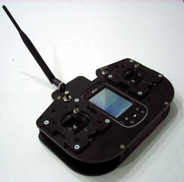 Bidirectional RC transmitter with ARM7, Xbee PRO, Bluetooth and a PDA - DIY Drones
