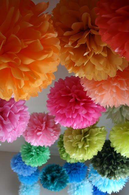 Design Dazzle: How To Make Tissue Pom Flowers