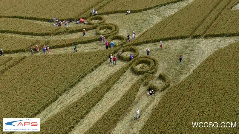 Crop Circle at Hill Barn, nr East Kennett, Wiltshire. Reported 26th July  2012.