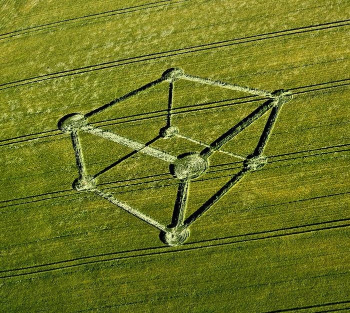 Crop Circle at Chilcomb Down, nr Winchester, Hampshire. Reported 1st July  2012.