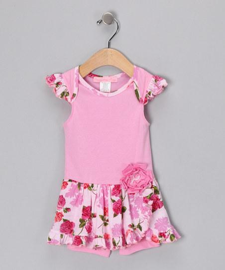 Pink Romance Flutter-Sleeve Romper - Infant | Daily deals for moms, babies and kids