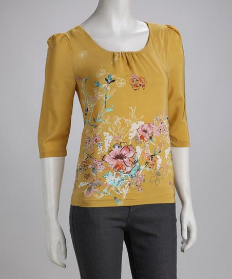 Mustard Annie Top | Daily deals for moms, babies and kids
