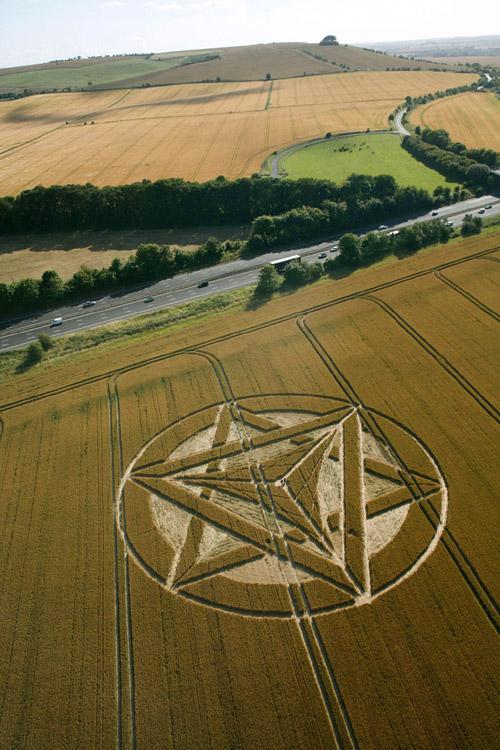 Crop Circle at Wanborough Plain, nr Liddington, Wiltshire. Reported 21st July. PHASE 2 2012.