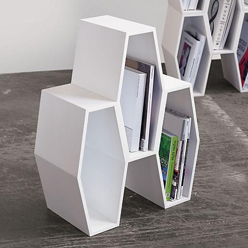 hive white storage unit in storage | CB2