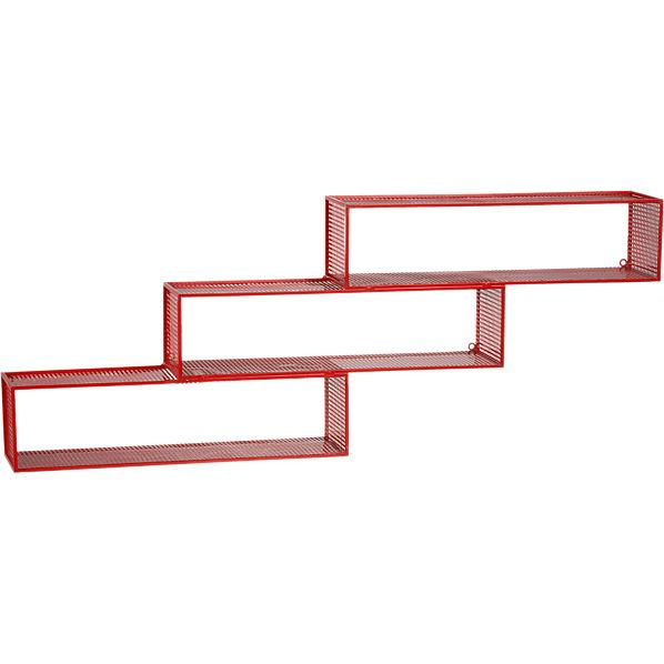 repeating red wall shelf in wall mounted storage | CB2 #123926 on Wookmark