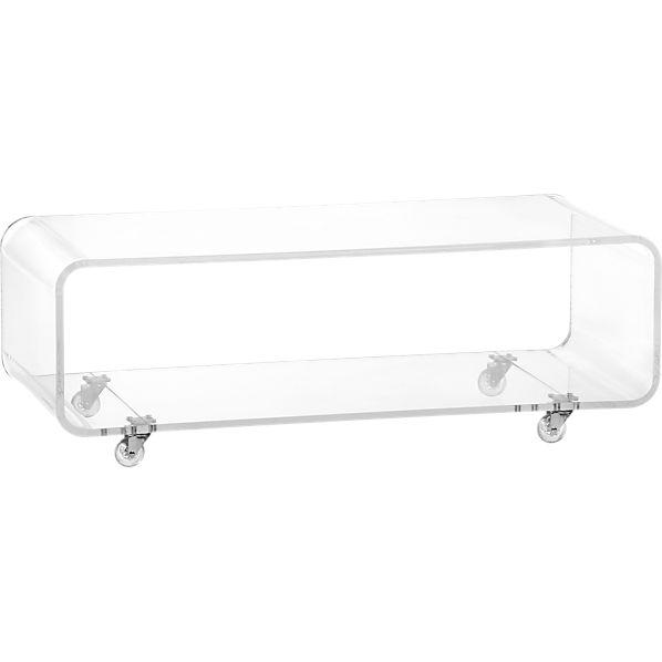 peekaboo clear media console in storage | CB2
