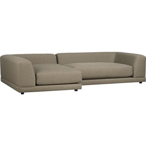 uno caper right arm sofa in sofas | CB2