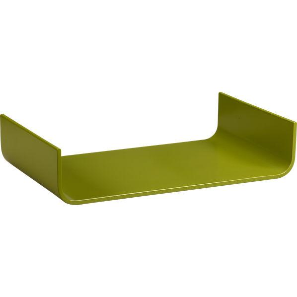 fjord sprout green tray in serving pieces | CB2