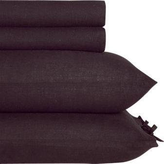 French-Belgian linen sheet sets in sheets, pillow shams   CB2