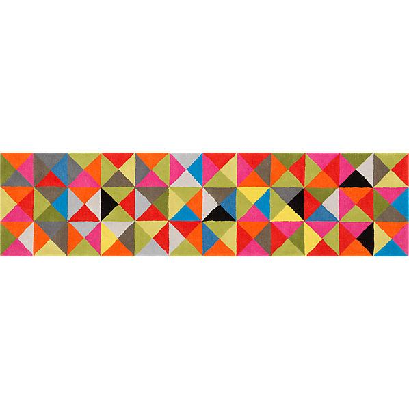 colored crystal runner in new rugs and pillows | CB2