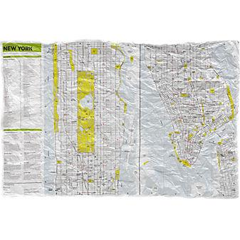crumpled city map: new york in books, paper | CB2