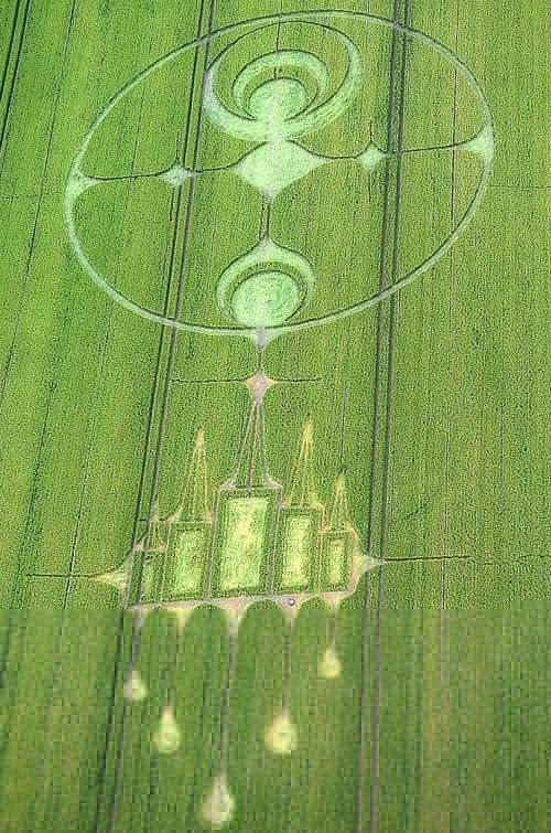 Crop Circle at Stanton St Bernard , nr Alton Barnes, Wiltshire. Reported 29th June  2012.