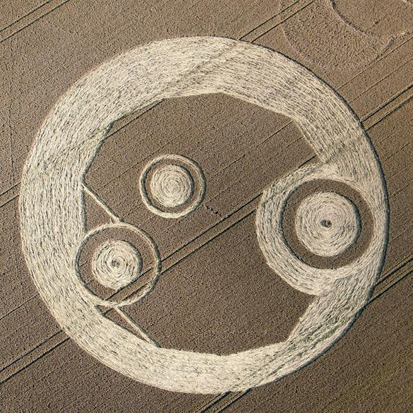 Crop Circle at The Wrekin, nr Telford. Shropshire. Reported 21st July  2012.