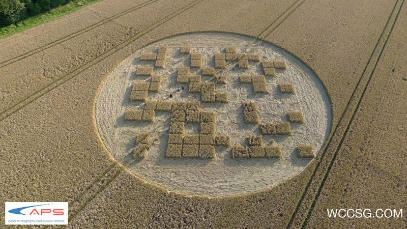 Crop Circle at Jubilee Copse, Nr Hannington, Wiltshire. Reported 28th July   2012.