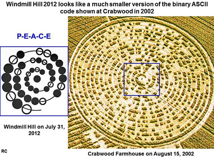 Crop Circle at Windmill Hill , nr Avebury, Wiltshire. Reported 31st July  2012.
