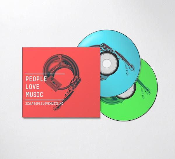 Identity Design for People Love Music by Bureau Bruneau - WE AND THE COLOR