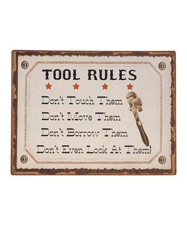 'Tools Rule' Wall Plaque | Daily deals for moms, babies and kids