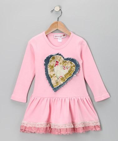 Pink Heart Dress - Toddler & Girls | Daily deals for moms, babies and kids