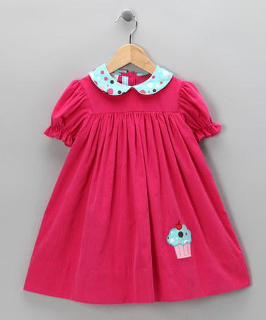 Hot Pink Corduroy Cupcake Dress- Toddler | Daily deals for moms, babies and kids