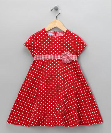Red Polka Dot Dress - Toddler & Girls | Daily deals for moms ...