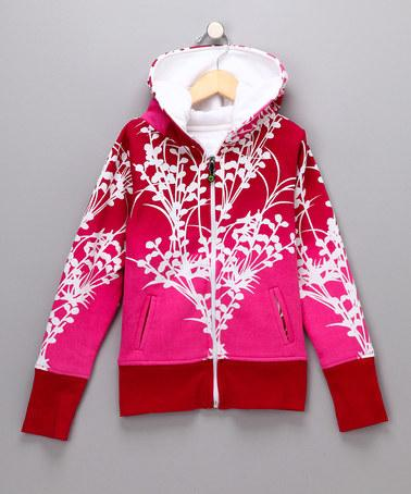 Red Anne Zip-Up Hoodie | Daily deals for moms, babies and kids