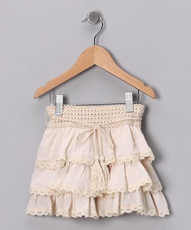Beige Sahara Ruffle Skirt | Daily deals for moms, babies and kids