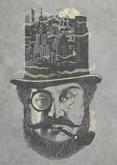 Old man hatten Art Print by Jonah Block | Society6