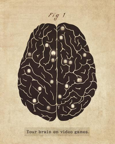 Fig. 1 - Your Brain On Video Games Art Print by Terry Fan | Society6