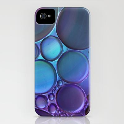 Oil On Water Blue/Purple iPhone Case by Ally Coxon | Society6