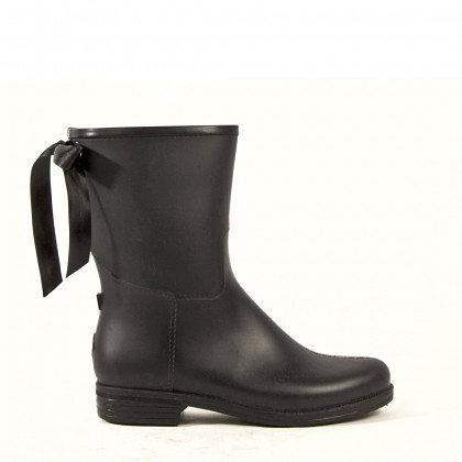 dav Ladies Black Mid Victoria Rain Boots and Rain and Muck Boots | EQUESTRIAN COLLECTIONS.COM