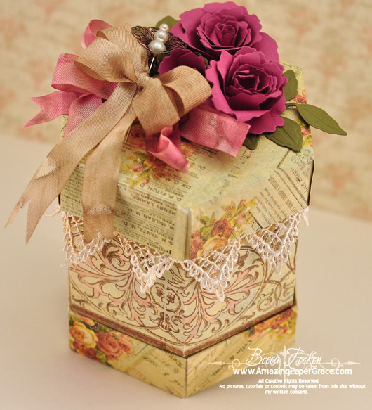 Hexagon Box » JustRite Stampers » Spellbinders » Amazing Paper Grace