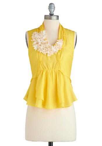 Luminous Blooms Top   Mod Retro Vintage Short Sleeve Shirts   ModCloth.com