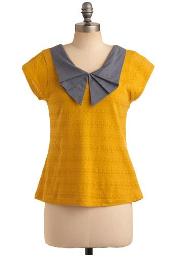 Beekeeper of Style Top | Mod Retro Vintage Short Sleeve Shirts | ModCloth.com