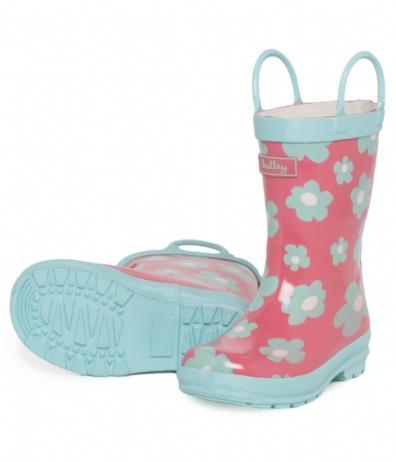 Hatley Store: Hatley Blue Flowers Kids' Rain Boots