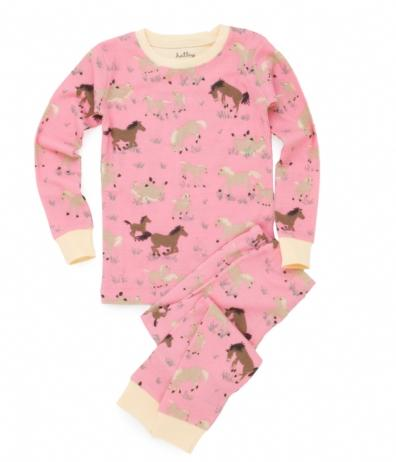 Hatley Store: Hatley Running Horses Kids' Overall Print Pajama Set