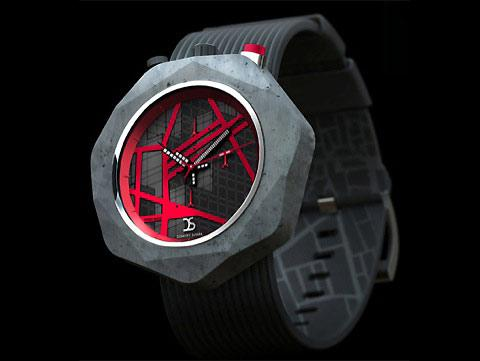 Urban sci-fi concrete watches by Dzmitry Samal — Lost At E Minor: For creative people